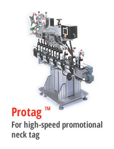 Protag for high speed and promotional neck tag